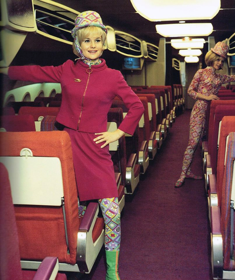 Hostesses brought glamour to flying