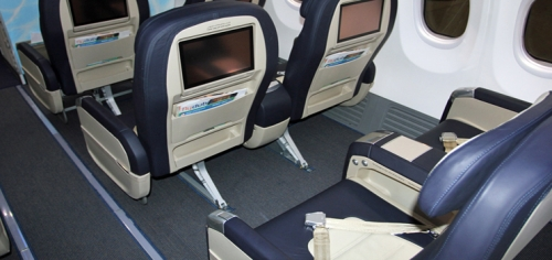 Inflight entertainment in Business Class on Flydubai