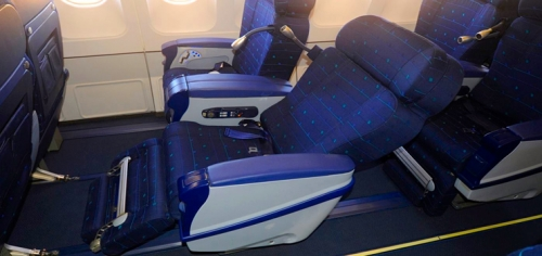 Business class on Azul's A330 used on international flights