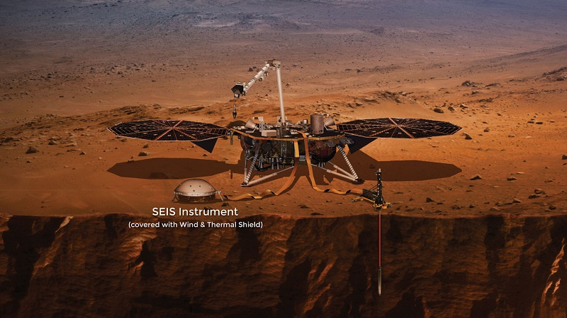 The Insight probe with its main experiments deployed