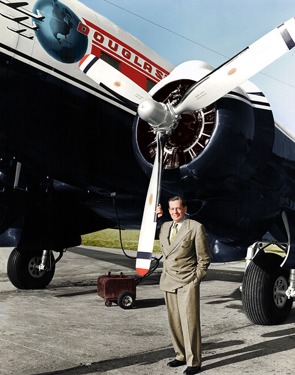 Color images bring Donlad Douglas the aerospace giant to life