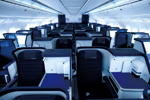 New Business Class on the 787 and 777  Picture: ANA