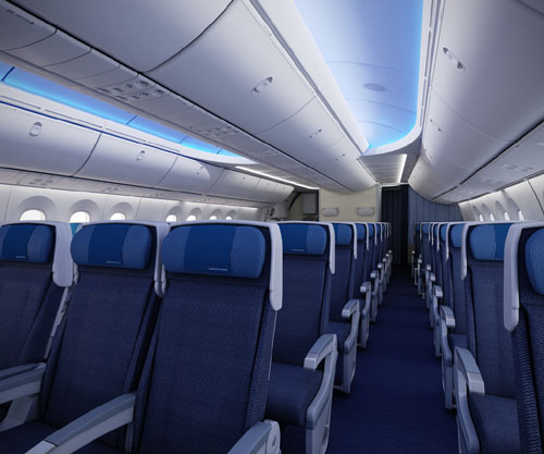New Economy Shell seats on the 777 and 787  Picture: ANA
