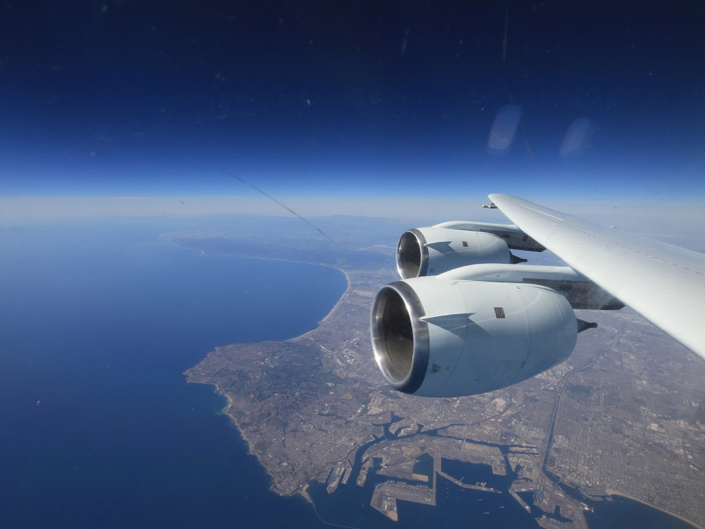 Long Beach California from the NASA DC-8