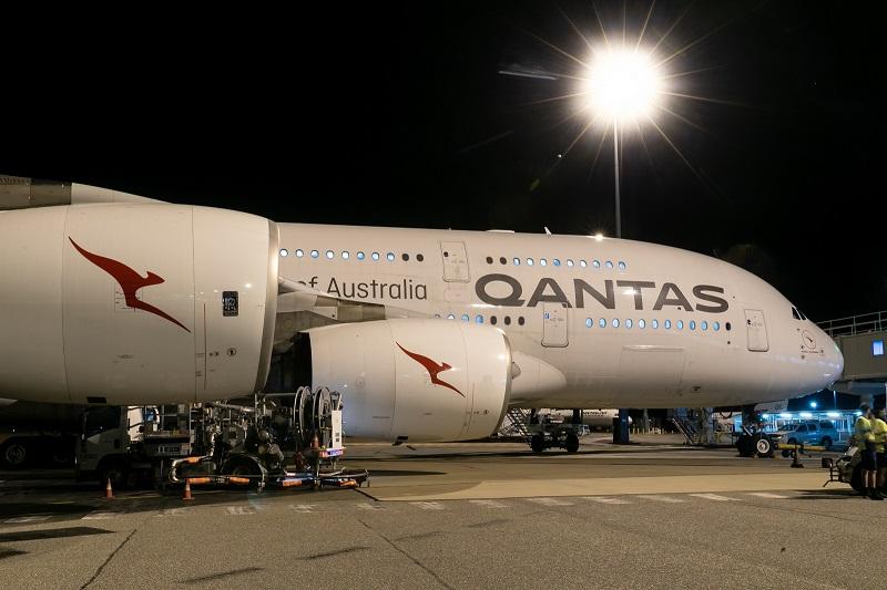 Qantas A380 darwin london