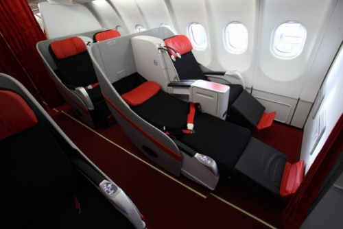AirAsia X Business Class cabin  Picture: Facebook/AirAsia