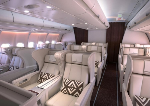 Fiji Airways new Business Class cabin on the A330 Picture: Air Pacific