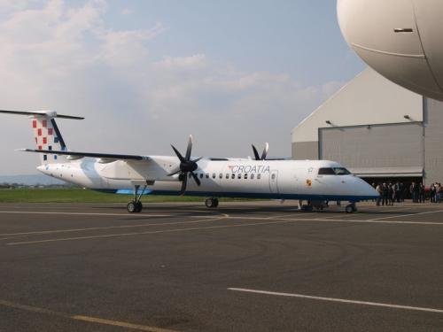 Croatia Airlines Dash 8 Q400 Picture: Facebook/Croatia Airlines