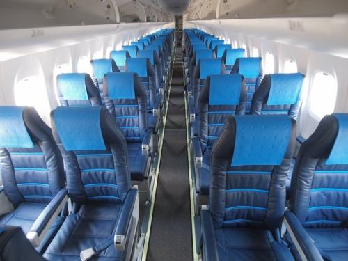 Croatia Airlines Dash 8 Q400 cabin  Picture: Facebook/Croatia Airlines