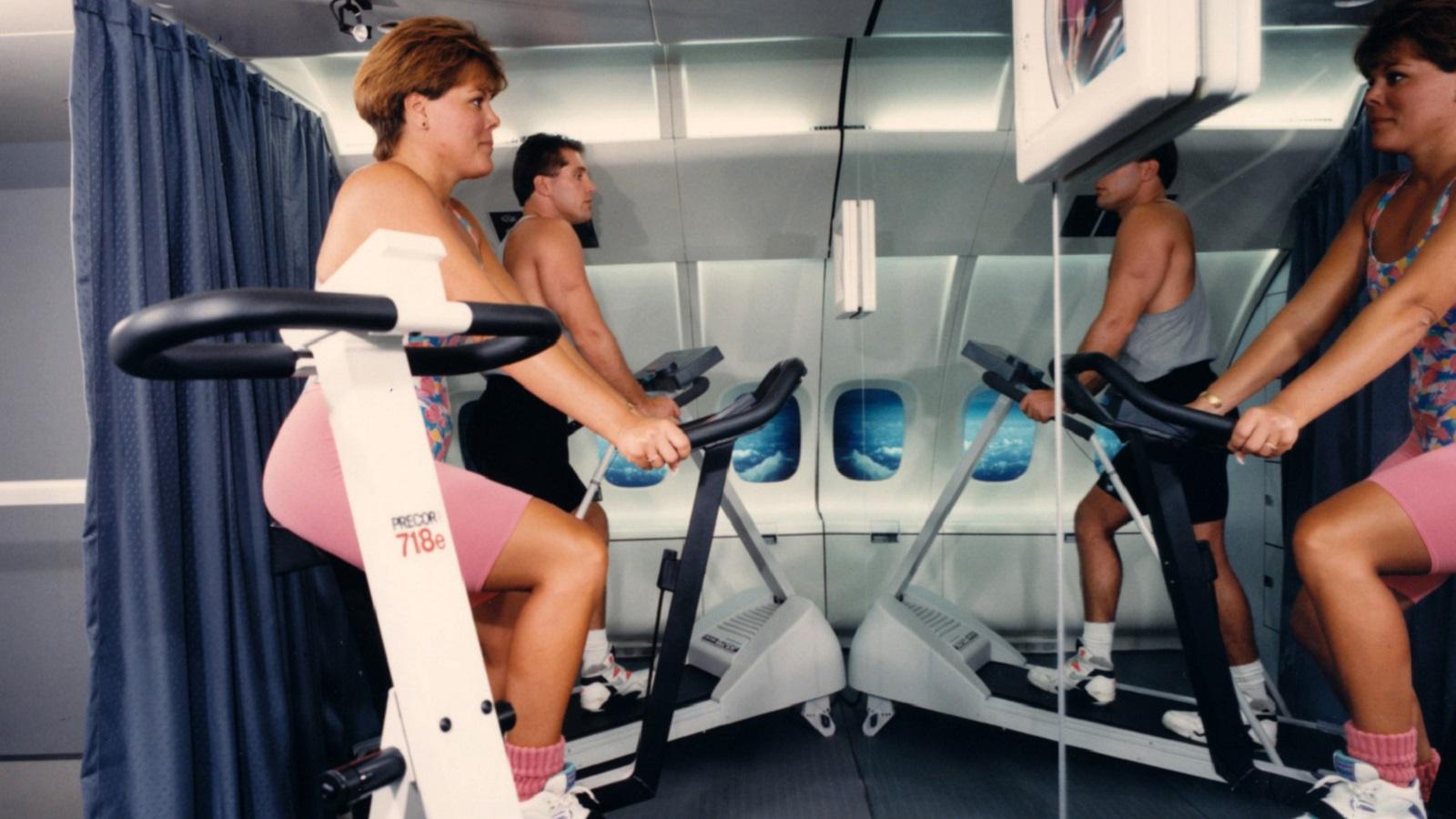 Gym on the MD-12 super jumbo mock-up