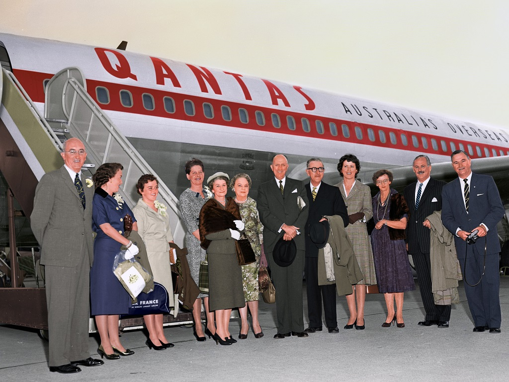 Qantas' first Boeing 707