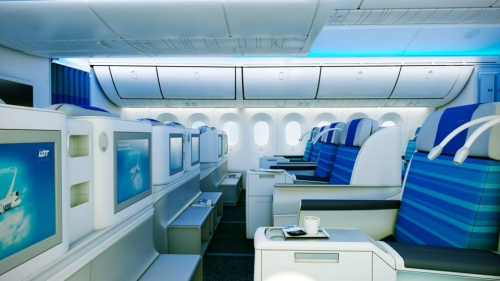 LOT Business Class on the Dreamliner  Picture: Facebook/LOT
