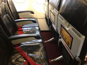The seats lacked legroom.