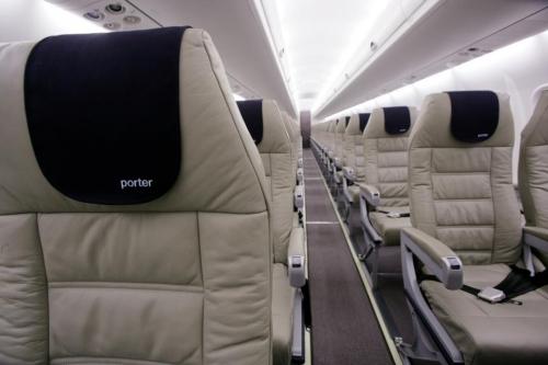 Porter Airlines cabin.