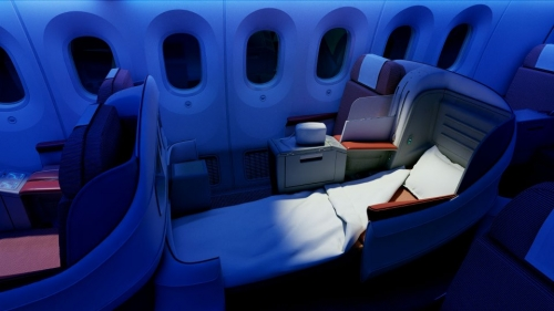 LAN Business Class on the 787 Dreamliner  Picture: Facebook/LAN
