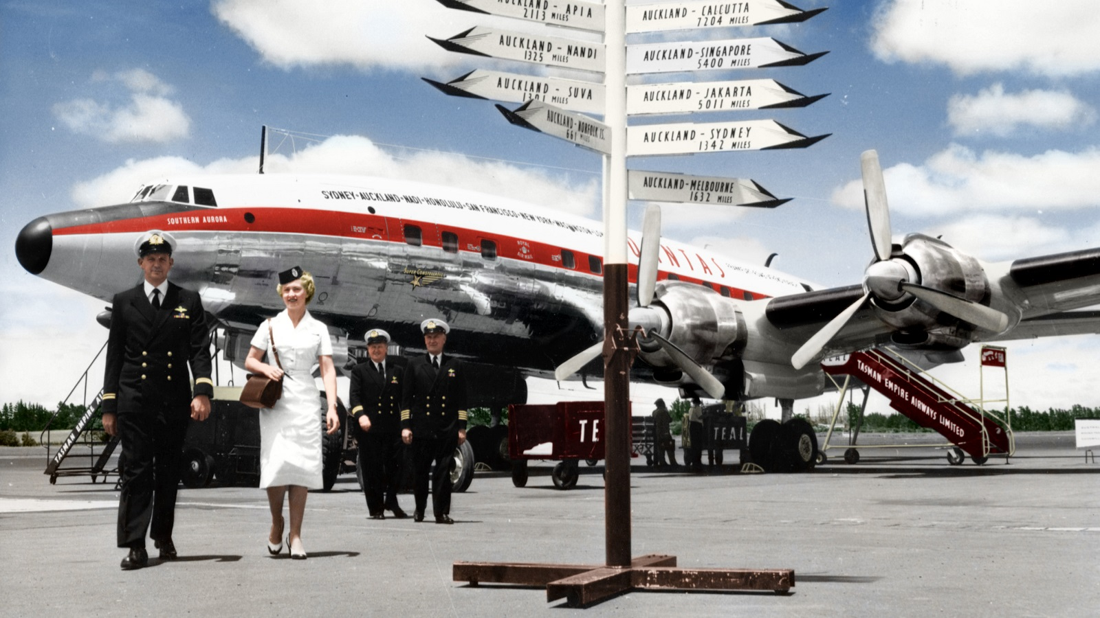 Qantas launched the worlds first round the world service