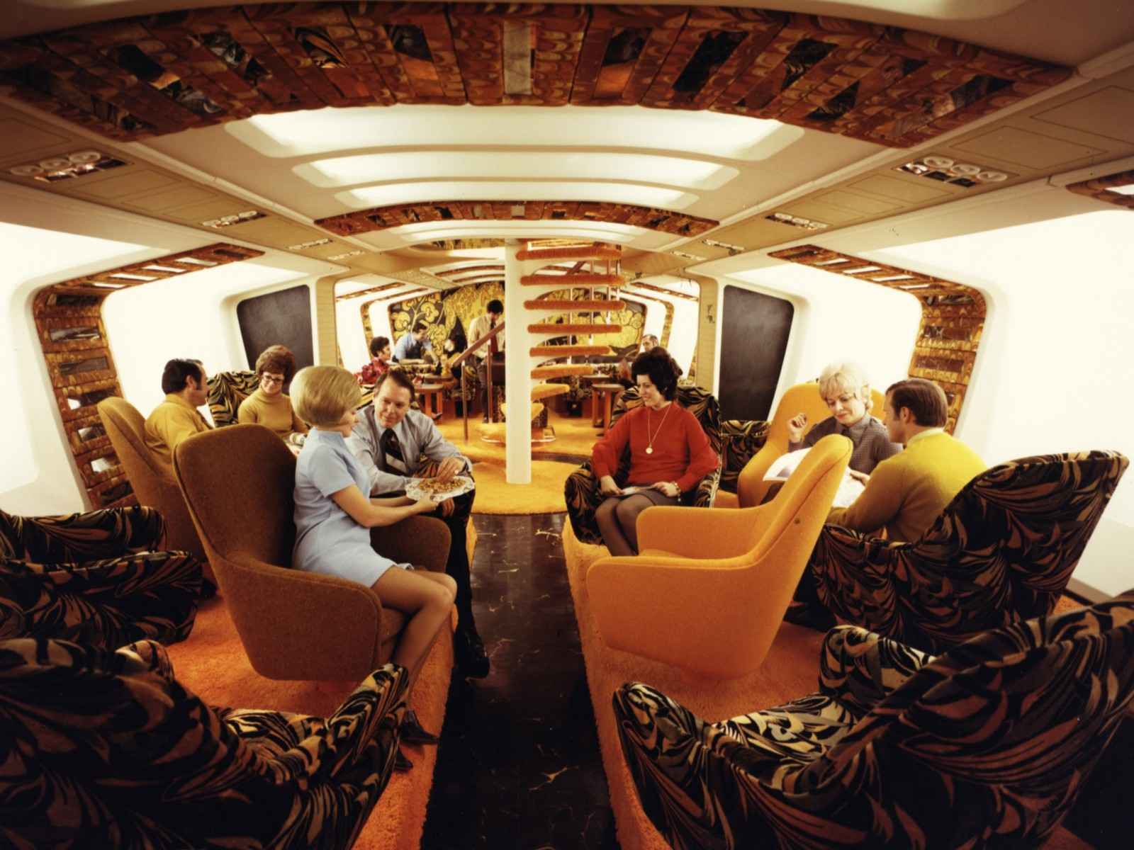 Boeing's lower deck Tiger Lounge for its 747 never took off.