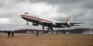 747 first flight 50