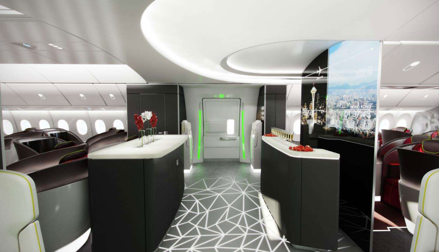 Entry Area On The 777x Interior