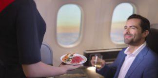 London-Perth qantas menu 787 scientific