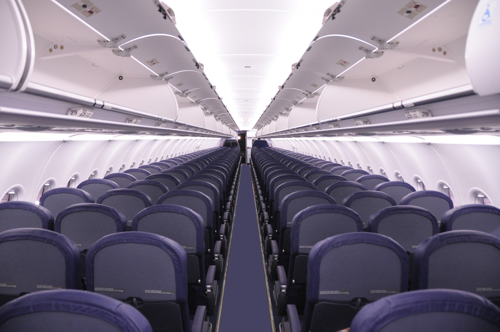 Spirit Airlines A320 Cabin