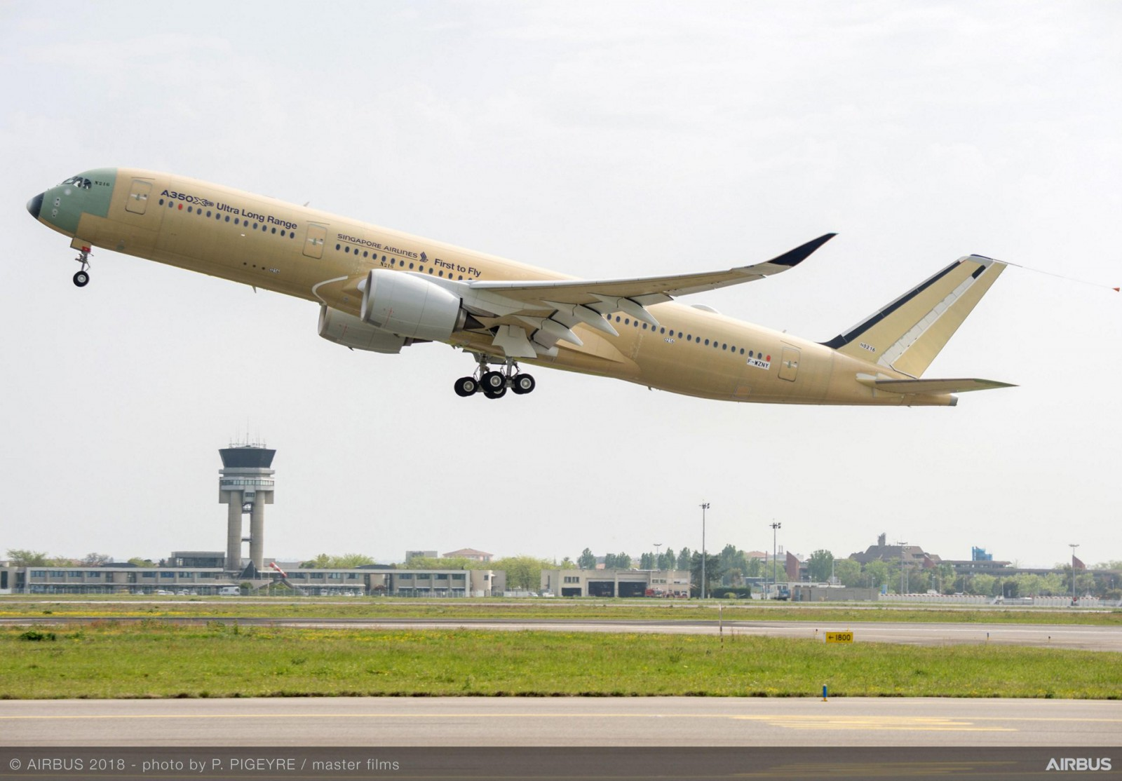 First flight A350 ultra-long-range