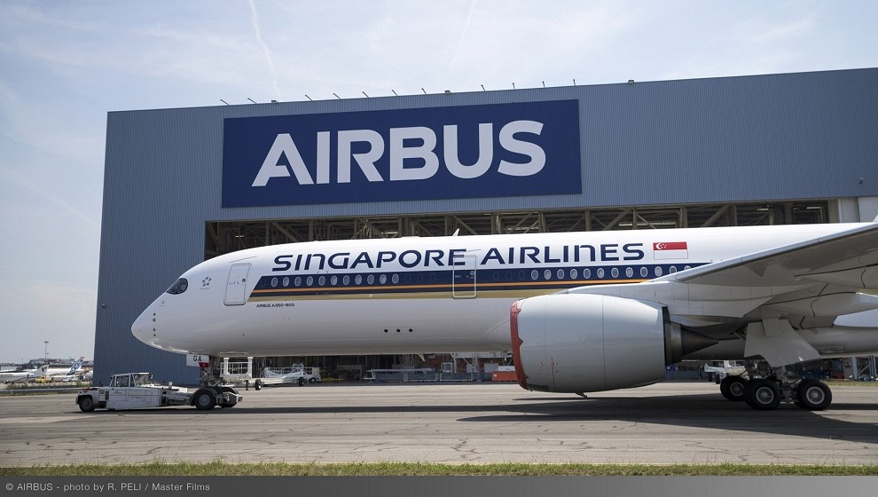 Singap[ore A350-900ULR Airbus paint