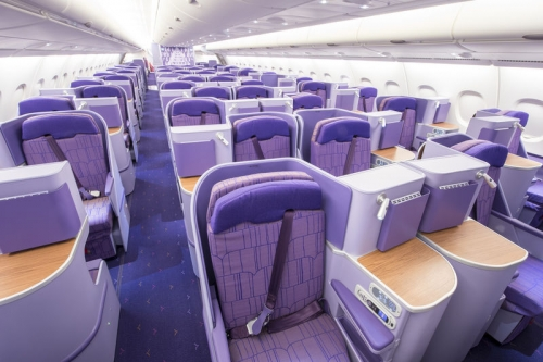 Thai Airways Business Class seat on the A380  Picture:Thai Airways