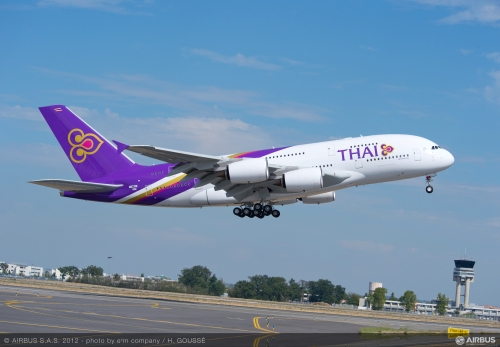 Thai Airways A380 Picture:Thai Airways/Airbus