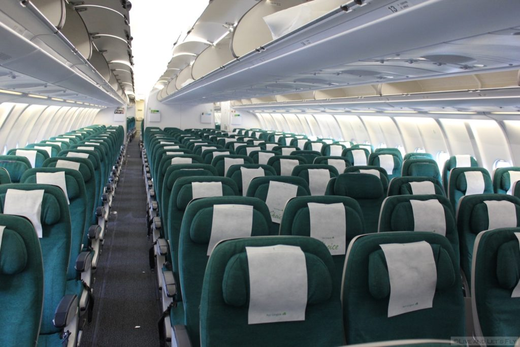 AER LINGUS a330 ECONOMY CABIN