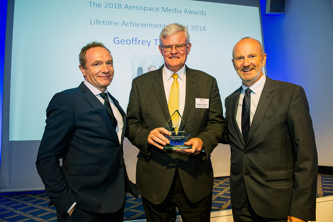 AirlineRatings.com founder Geoffrey Thomas wins award