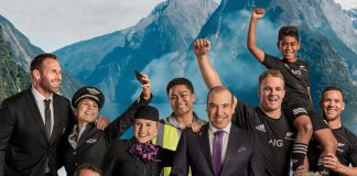 Air New Zealand safety video all balcks