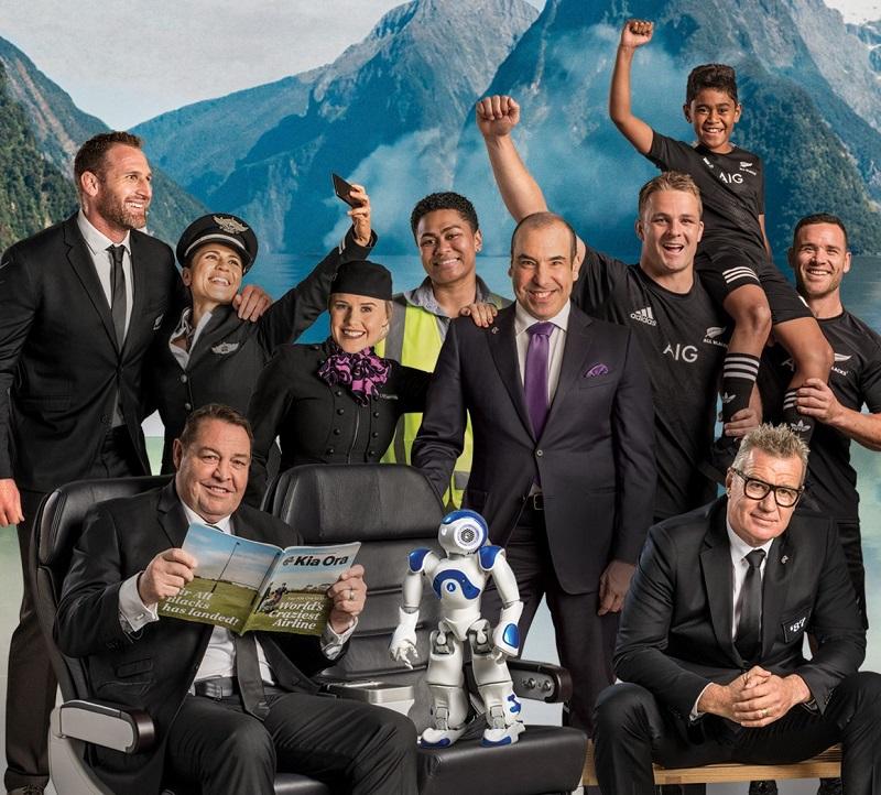Air New Zealand safety video all balcks