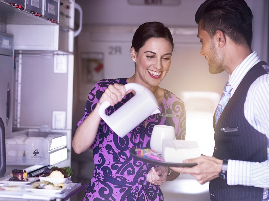 Air New Zealand wine food record