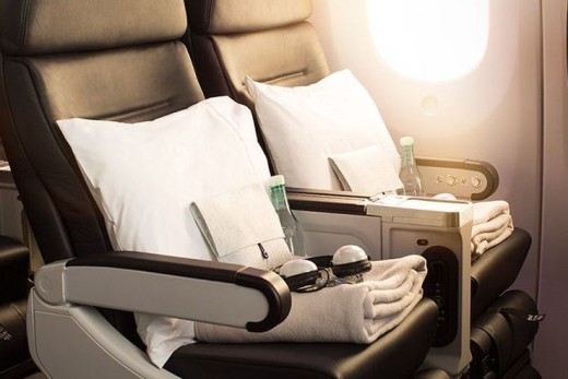 Air New Zealand long haul premium economy.