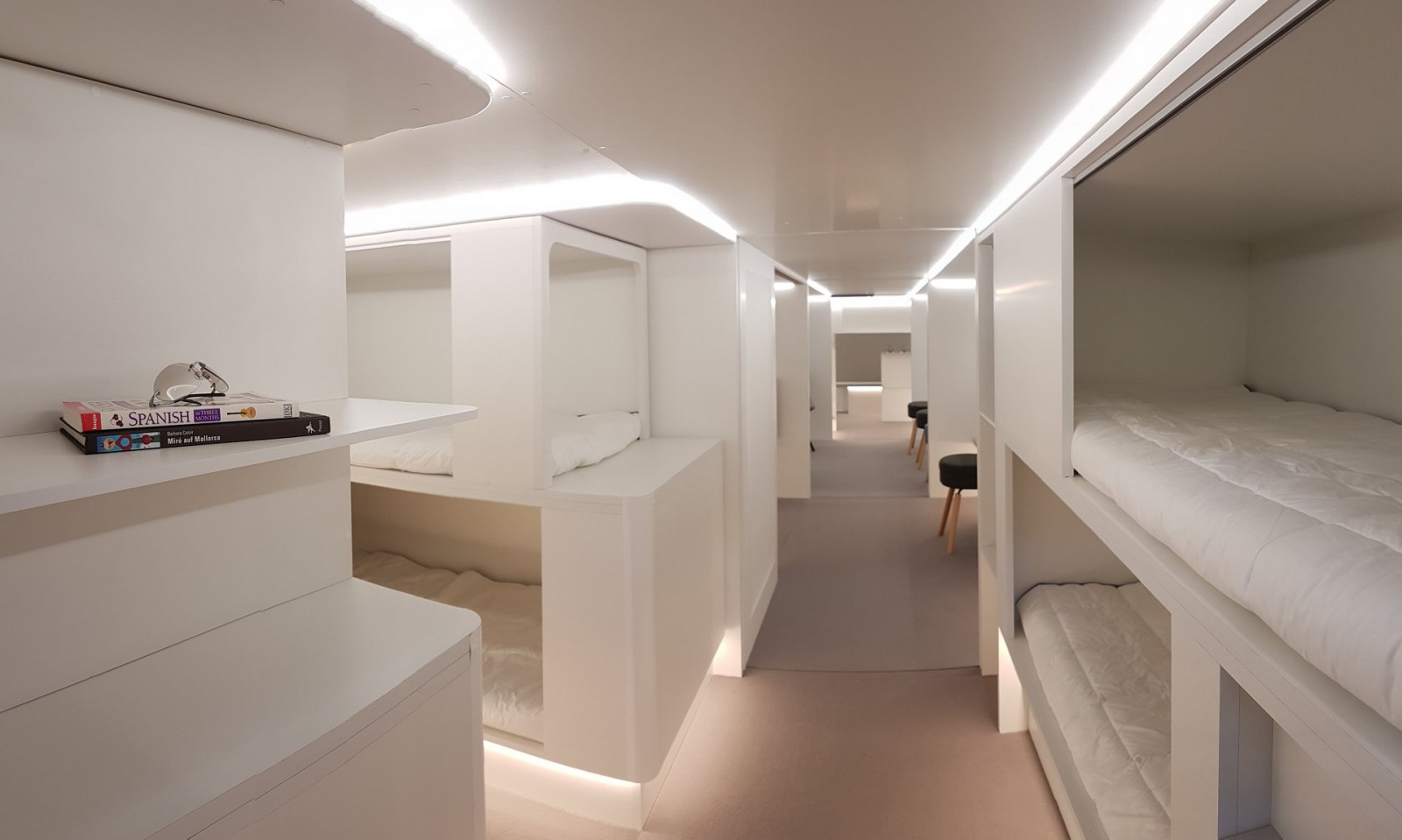 Qantas is considering downstairs beds