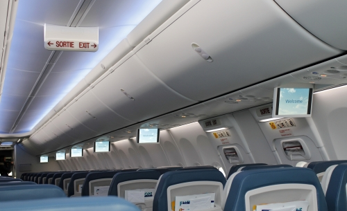 Luxair 737-800 with in flight entertainment  Picture: Luxair