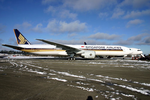 Singapore Airlines 777-300 Picture: Singapore Airlines