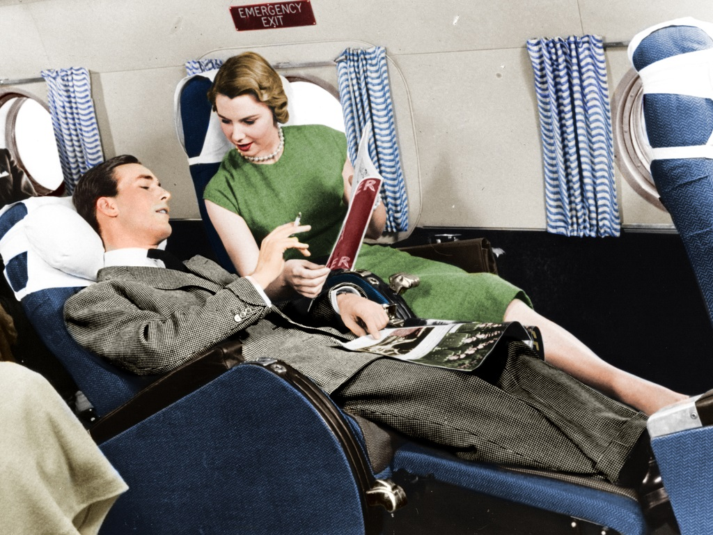 Reading was popular on aircraft
