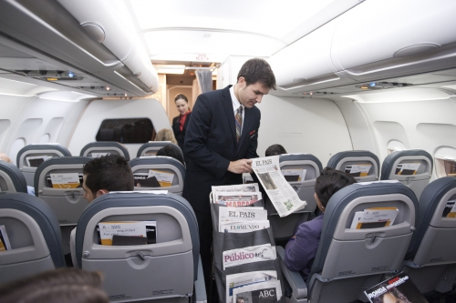 Iberia Business Class on short haul flights  Picture:Iberia