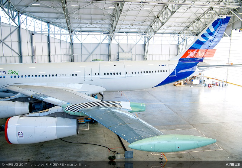 Airbus BLADE wing laminar A340