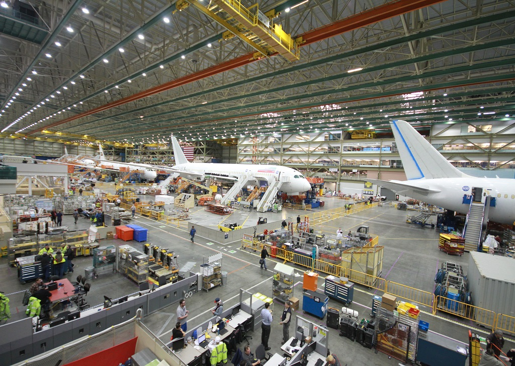 Boeing's 787 production line