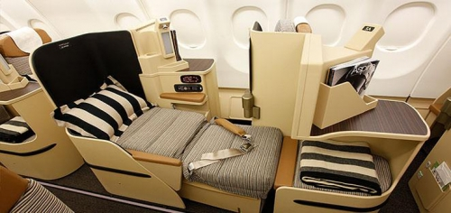 Etihad Airways Business Class seating