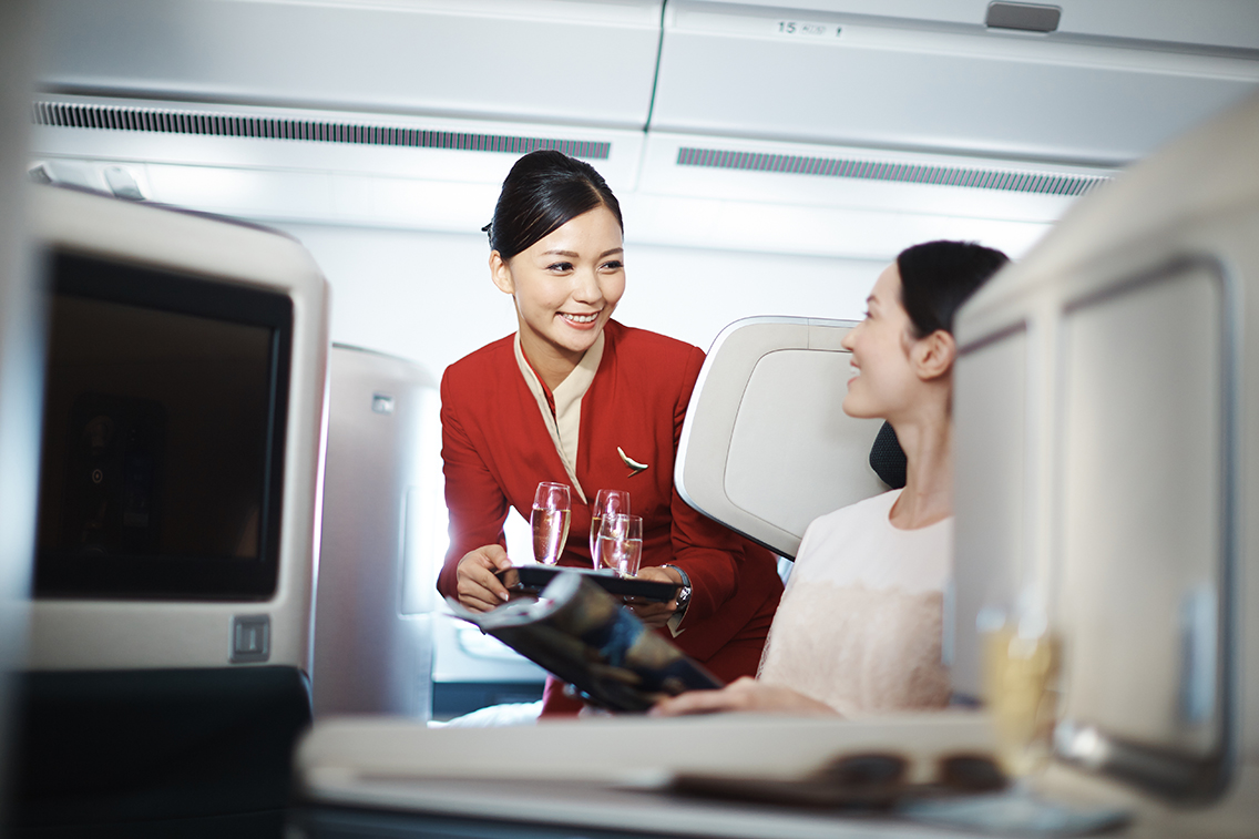 Cathay Pacific Business Class on the A350.
