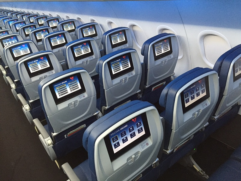 Delta A320 recline halved