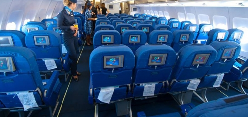 Economy Class on Azul's A330 used on international flights