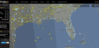Irma Florida airlines airspace