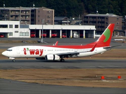T'Way 737-800  Picture:redlegsfan21/commons.wikimedia.com