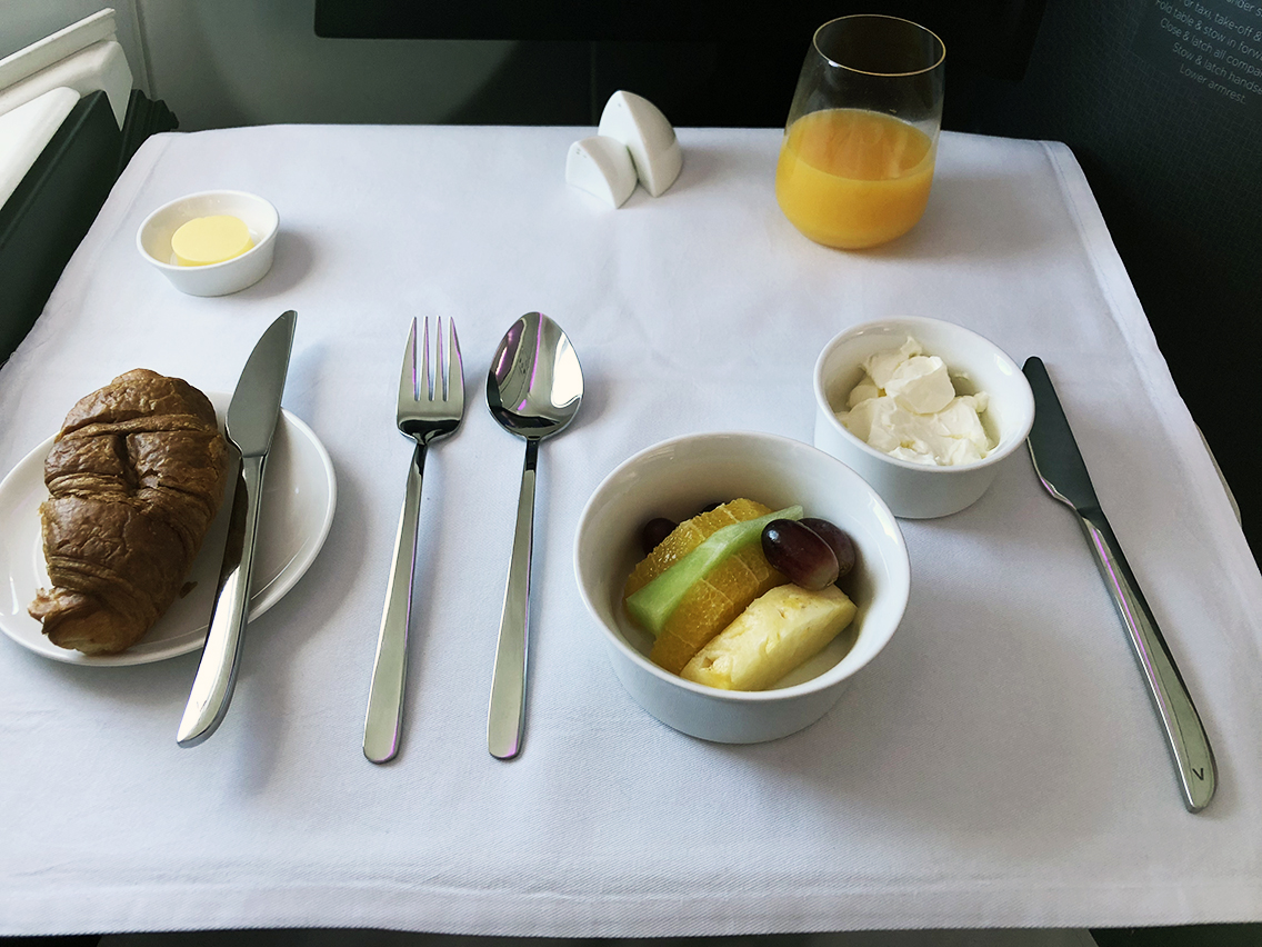Breakfast on Virgin Australia