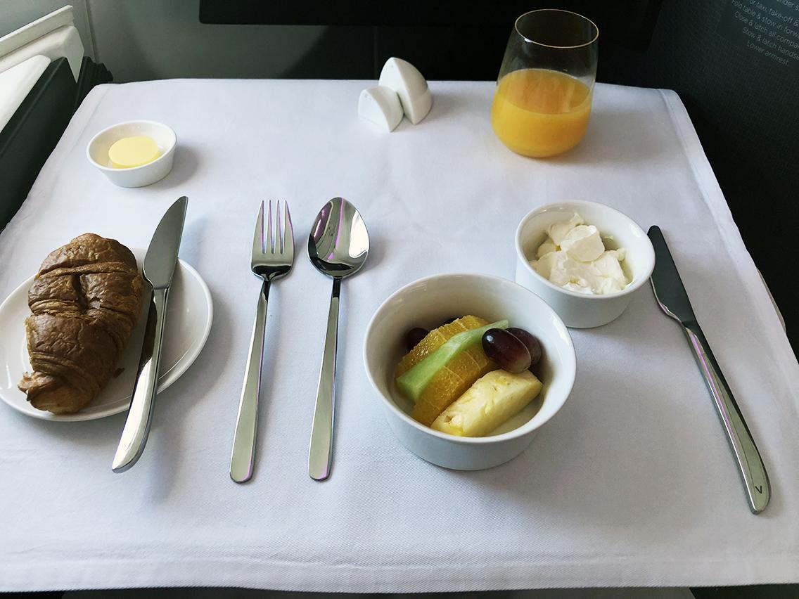 Breakfast on Virgin Australia
